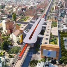 Render estación primera línea Metro de Bogotá